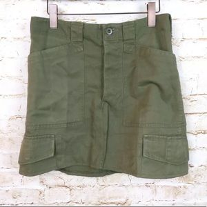Urban Renewal UO Recycle Military Army Cargo Skirt